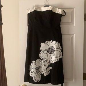 Beautiful black & while strapless dress